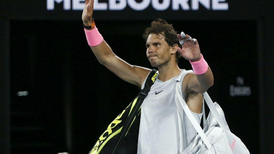 Rafa Nadal se lesiona en el Open de Australia
