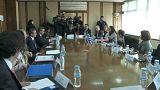 Le delegazioni dei ministeri di Giustizia greco e turco