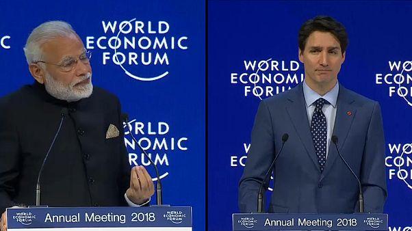 Davos, Modi e Trudeau grandi protagonisti della prima giornata del Forum