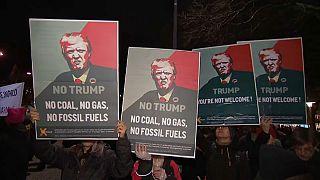 Protestas contra Trump en Suiza