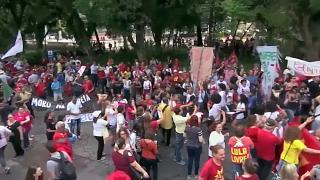 Supporters rally for Brazil's ex-President Lula da Silva