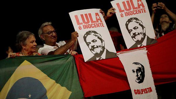 Manifestação de apoio a Lula em Porto Alegre