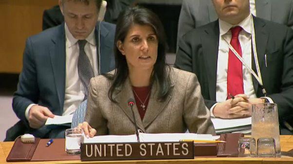 Nikki Haley warf im UN-Sicherheitsrat Moskau vor, ablenken zu wollen.