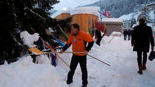 O dia de Merkel e Macron em Davos