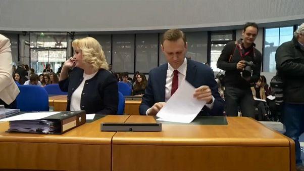 Алексей Навальный выступил в Страсбурге
