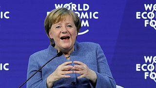 Angela Merkel esteve em destaque no segundo de Davos2018