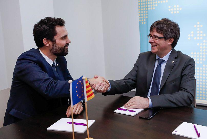 Roger Torrent et Carles Puigdemont