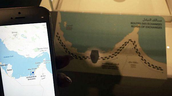 نقشه قطر در موزه لوور شعبه ابوظبی