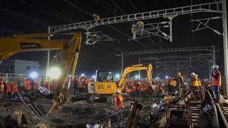 1500 Arbeiter auf Riesenbaustelle in China