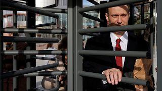 Alexej Nawalny nach der Anhörung vor dem EuGH