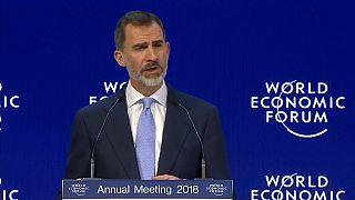 """Rei de Espanha em Davos: """"A Catalunha é uma lição"""""""