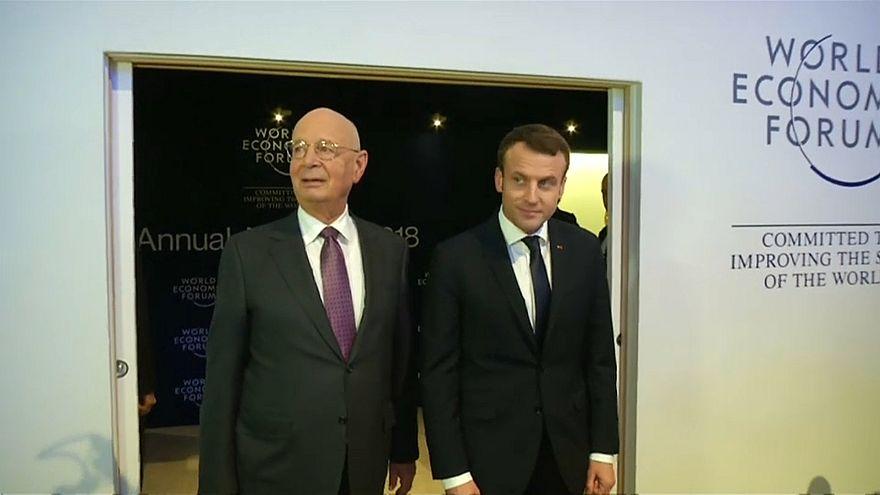 Давос: Макрон предлагает ЕС пересмотреть стратегию