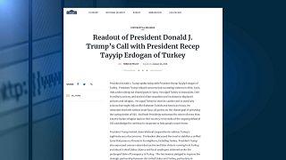 Трамп и Эрдоган поговорили о Сирии