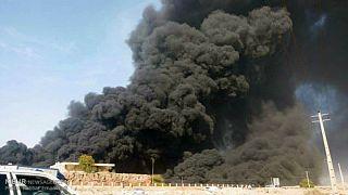 بندرعباس؛ آتش سوزی در کارخانه قیر جان سه نفر را گرفت