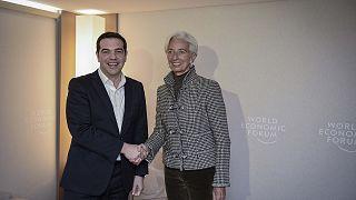 Χρέος και ελληνική οικονομία στις συναντήσεις Τσίπρα με Λαγκάρντ και Μοσκοβισί