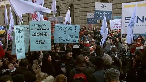 Streik in Slowenien