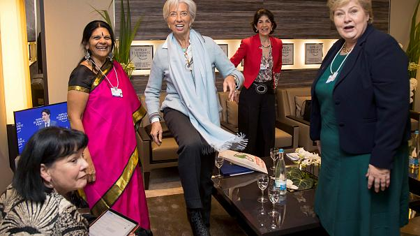 Christine Lagarde , Erna Solberg, Sharan Burrow, social activist Chetna Sin