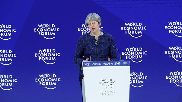 Theresa May a Davos