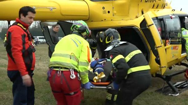 Angustia entre los familiares y prudencia entre las autoridades tras el accidente de Milán