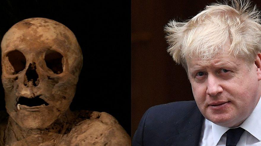 Boris Johnson é descendente de múmia suíça