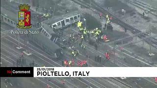 При крушении поезда под Миланом погибли трое человек