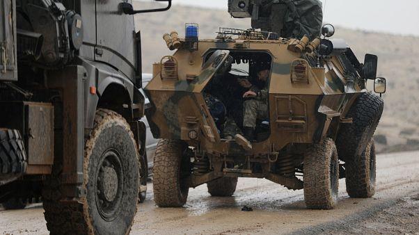 نیروهای ارتش ترکیه در نزدیکی برصایا