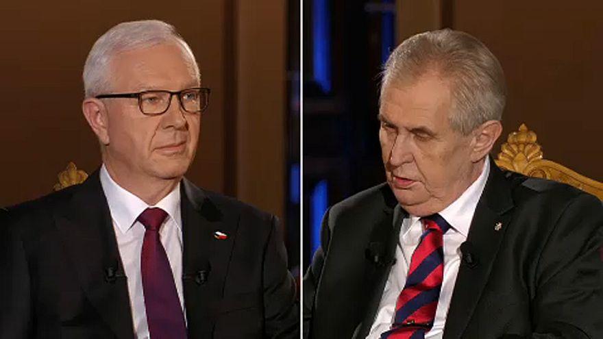 Eldurvult a cseh államfőjelöltek utolsó tv-vitája