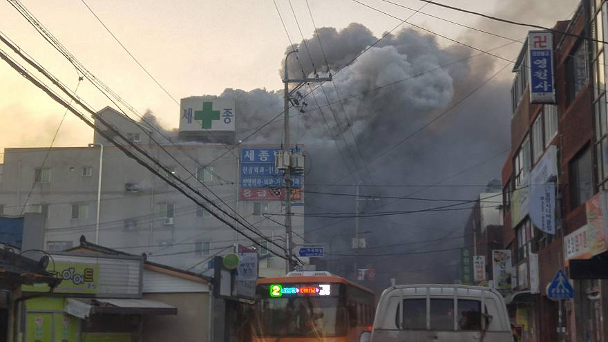 More than 40 killed in South Korea hospital blaze