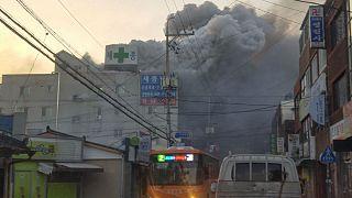 burning hospital in Miryang