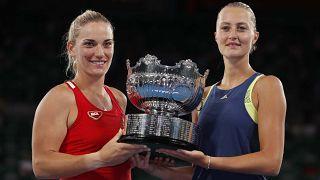 Babos Tímea és Kristina Mladenovic nyerte a női páros döntőjét az AusOpenen