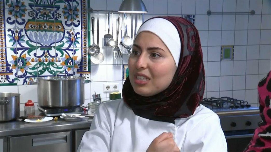 Una refugiada siria en la cocina de la Berlinale