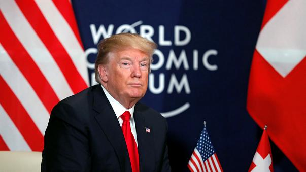 U.S. President Donald Trump during the World Economic Forum (WEF)