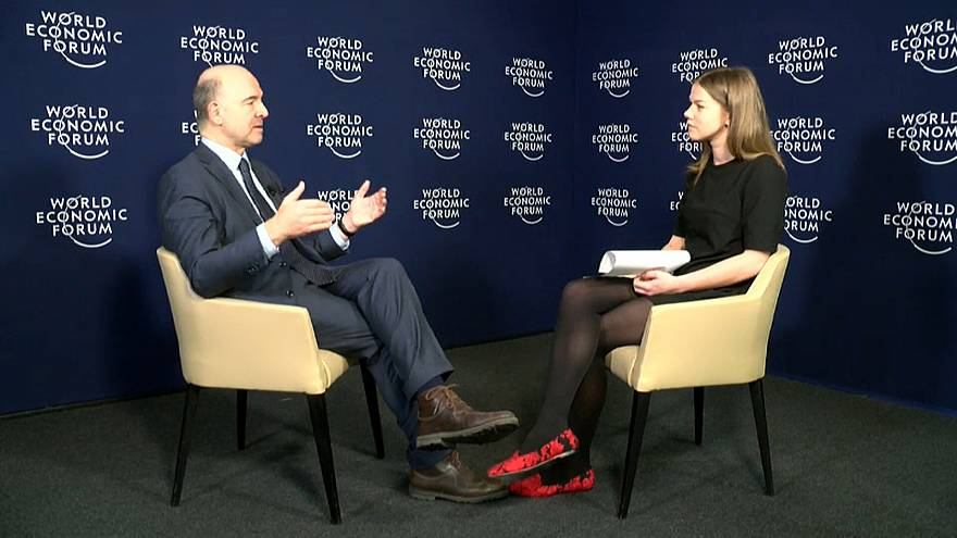 "Moscovici in Davos: ""No Europe First"" to counter Trump, but the ""European Way""."