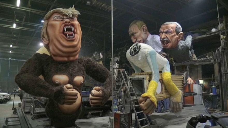 Trump protagonista al carnevale di Nizza