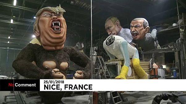 Trump-fejű gorilla lesz a Nizzai Karnevál sztárja