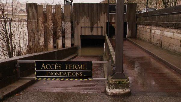 Rhone und Saône: Hochwasser in Lyon