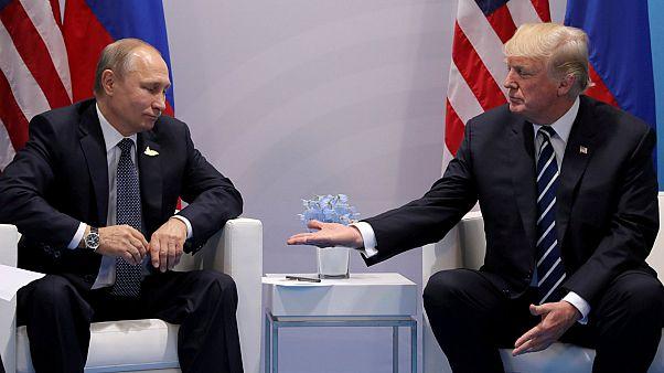Donald Trump meets Vladimir Putin at the G20 summit (July 7, 2017)