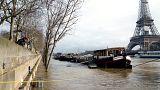 Paris ve Lyon'da nehirlerin suyu yükseliyor