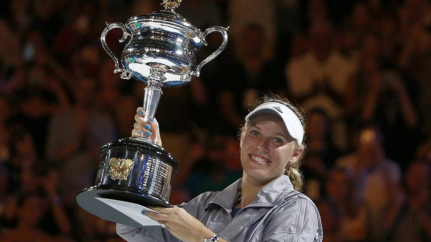 Image result for caroline wozniacki wins 2018 australian open