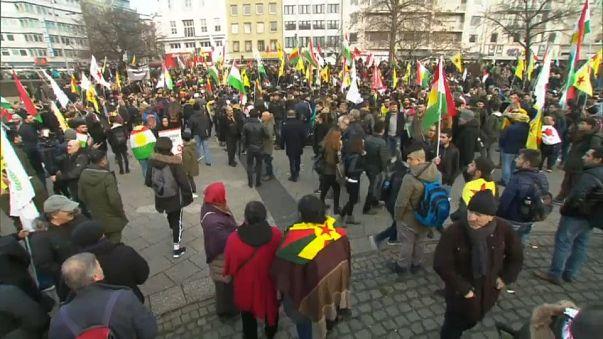 Manifestación prokurda en Colonia