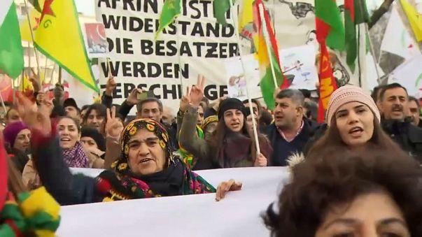 Pro-Kurdish demonstration in Germany