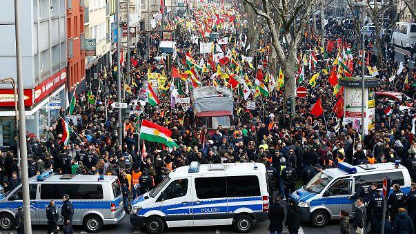 Антитурецкий митинг немецких курдов