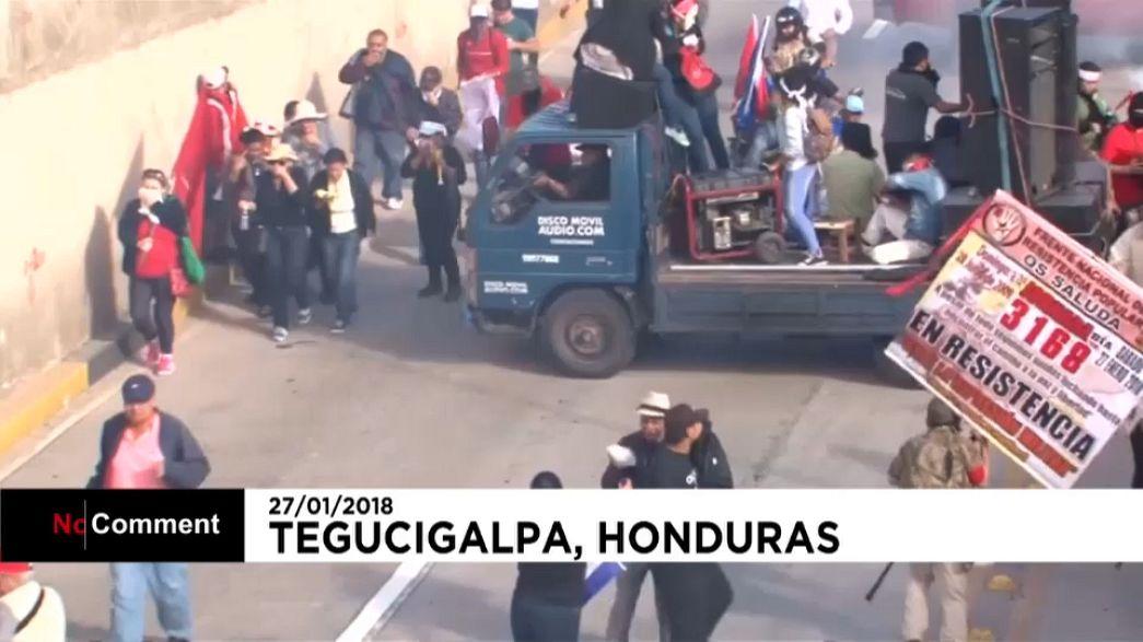 Onda de protestos nas Honduras