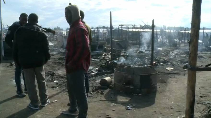 Incendio mortal en un poblado chabolista en Italia
