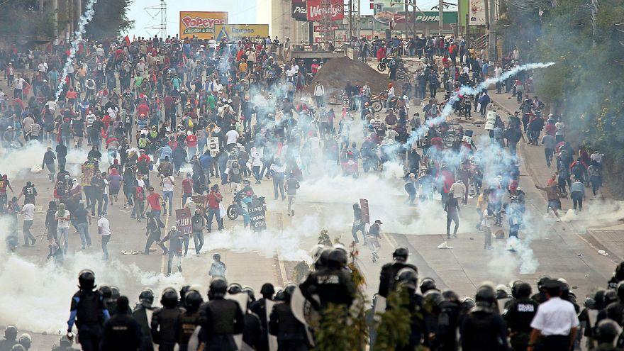 Honduras: Proteste zur Vereidigung von Präsident Hernández