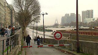 The Seine river in Paris is threatening to burst its banks