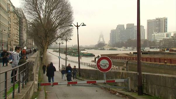 The Seine river in Paris is threatening to burst its banks