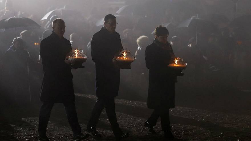 Polish leaders during 73rd anniversary of Holocaust remembrance day