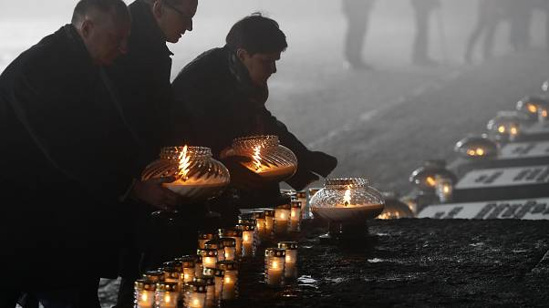 L'hommage aux victimes de l'Holocauste à Auschwitz