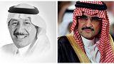 الأمير الوليد بن طلال (يمين) والإعلامي إدريس الدريس